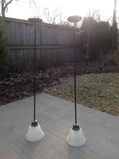 Pair of 2 Pendant Lights (Great for above a Kitchen Island); Bronze Finish