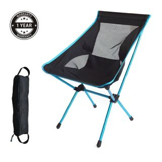 Ultralight Portable Camping Chair with Comfortable High Back and a Carrying Bag