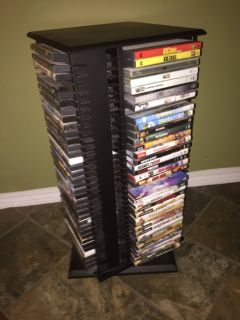 30 4 sided 140 Revolving DVD Storage