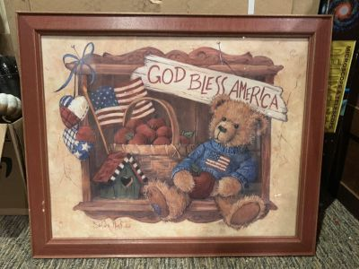 23x19 framed Bear picture