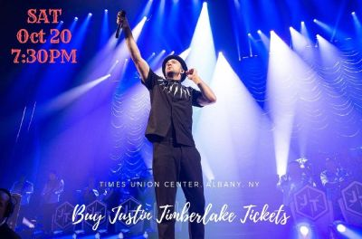 Justin Timberlake Tickets, Times Union Center - Albany - NY, Sat 20 Oct 2018 at 07:30 PM