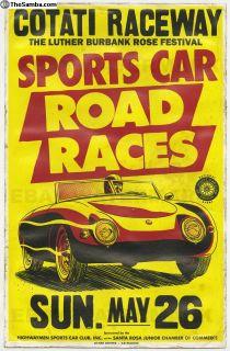 1950's Denzel Racing Poster