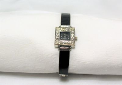 Ma Bella 5351 Black Gem Watch Band Water Resistant Quartz Movement Analog