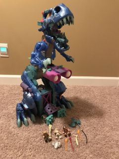 Fisher Price Imaginext Ice Age Dinosaur, Walks, Sounds, Claw/balls shoot out, action figures, accessories, (3 Pictures)