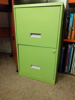Green Two Drawer File Cabinet