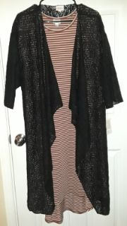 $50 Firm for both New Black M Lularoe Lace Shirley & XL Carly dress both fit size's 16-24