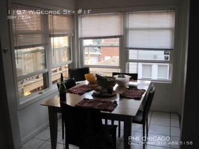 LOVELY LINCOLN PARK 3bed/ 2ba, sunny, hdwd, w/d, storage, BrownL