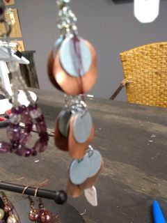 New with tags copper and silver handmade earrings