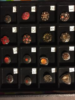 NEW, SNAPS FOR INTERCHANGEABLE JEWELRY, FITS GINGERSNAPS BRAND, Gold, Coral / MULTI
