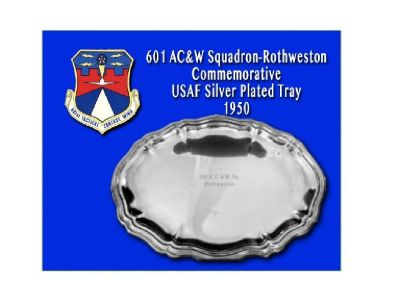 1950's US Air Force Silver Plated Commemorative Tray