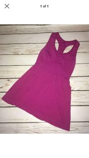 Champion double dry magenta athletic top, size s