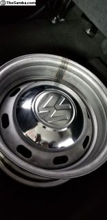 USED 4 lug HUB CAPS set for 4 lug wheels ONLY