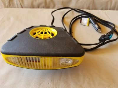 12 Volt heater/fan/defroster with light