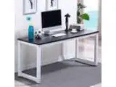 Yaheetech Computer Desk Home Office Table Workstation (Black)