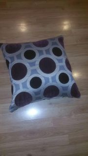 Sofa pillow, 22x22x8, very puffy, has zipper closure for cleaning