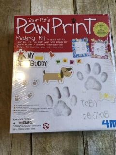 New sealed paw print making kit great Christmas present especially if Santa is bringing a puppy $5