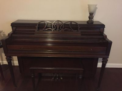 Everett piano with bench