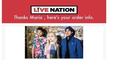 2 Tickets to Paramore