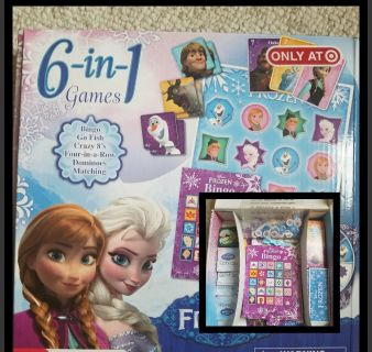 6 in 1 Frozen set of games