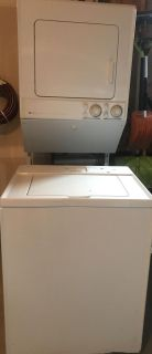Maytag stackable washer and dryer unit Gas