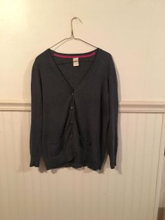 Ladies gray button down sweater