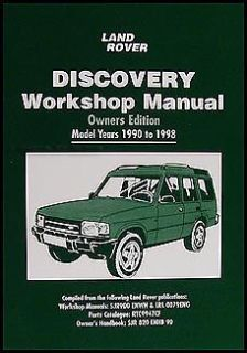Find Land Rover Discovery Owners Shop Manual 1998 1997 1996 1995 1994 1993 1992 1991 motorcycle in Riverside, California, United States, for US $49.95