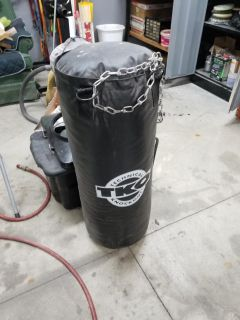 Pushing bags and gloves- 50lb bag. Like brand new, used maybe twice. Just dirty from being in a shop. $50 for all 3!!!