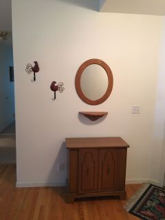 Cabinet mirror & wall shelf