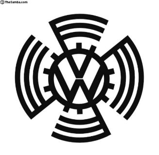 KDF Sun Vw Metal Art Emblem