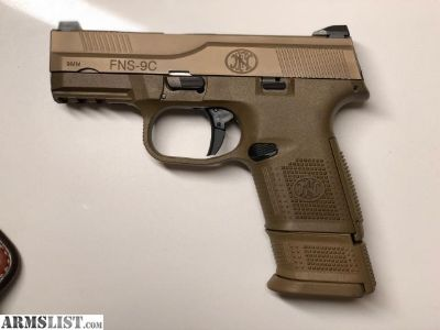 For Sale: FNS 9C FDE 9mm