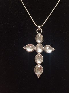 """Beautiful Cross Necklace. On 20"""" sterling silver chain."""