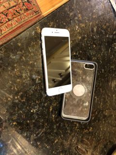 iPhone 7 with case. Perfect condition.