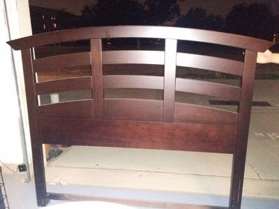 $250, Model home moving sale Wood headboard for queen bed