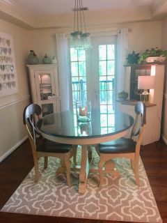 Pier 1 - Marchella Dining Room table w/2 chairs, glass top