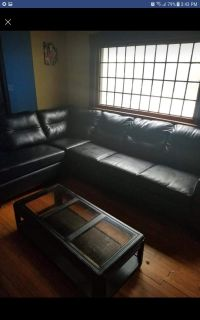 Large black sectional