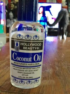 Hollywood beauty coconut oil moisturizer for hair and skin.new
