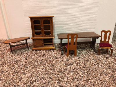 Antique Solid Wood Dollhouse Furniture