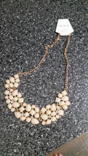 New Gold and Ivory Statement Necklace