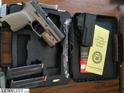 For Sale: Sig P320C Flat Dark Earth 9mm