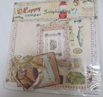 Reduced~Happy Camper Scrapbook Kit