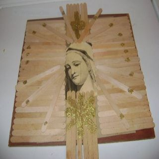 Homemade Mother Mary Wall Hanging
