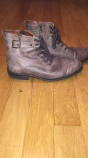 Men's Light Brown Leather Boots