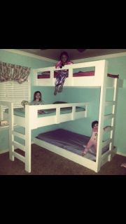 Triple bunk bed- kids not included
