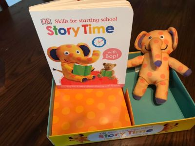 Story time book and puppet