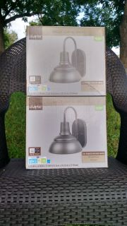 New: Lot of (2) Chapter Gooseneck Single Light Sconces - Wet Rated - Oil-Rubbed Bronze -> $40.