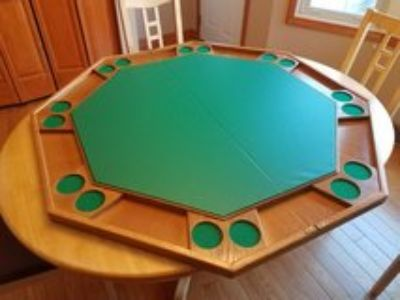 Wood poker table topper