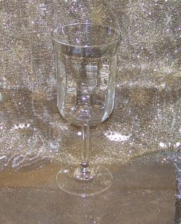 "CRYSTAL WATER GOBLET, Set of 4, Discontinued Anchor Hocking ""Moments"""