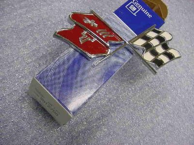 Buy Chevrolet Corvette 1968-1972 NOS Cross Flag Nose Emblem motorcycle in Girard, Ohio, US, for US $9.99