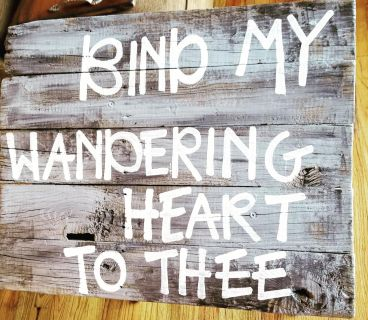 New recycled rustic hand painted wood sign