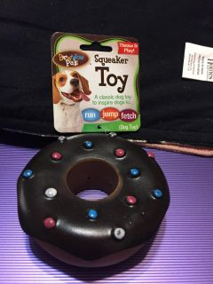 NWT Bow Wow Pals squeaker toy donut